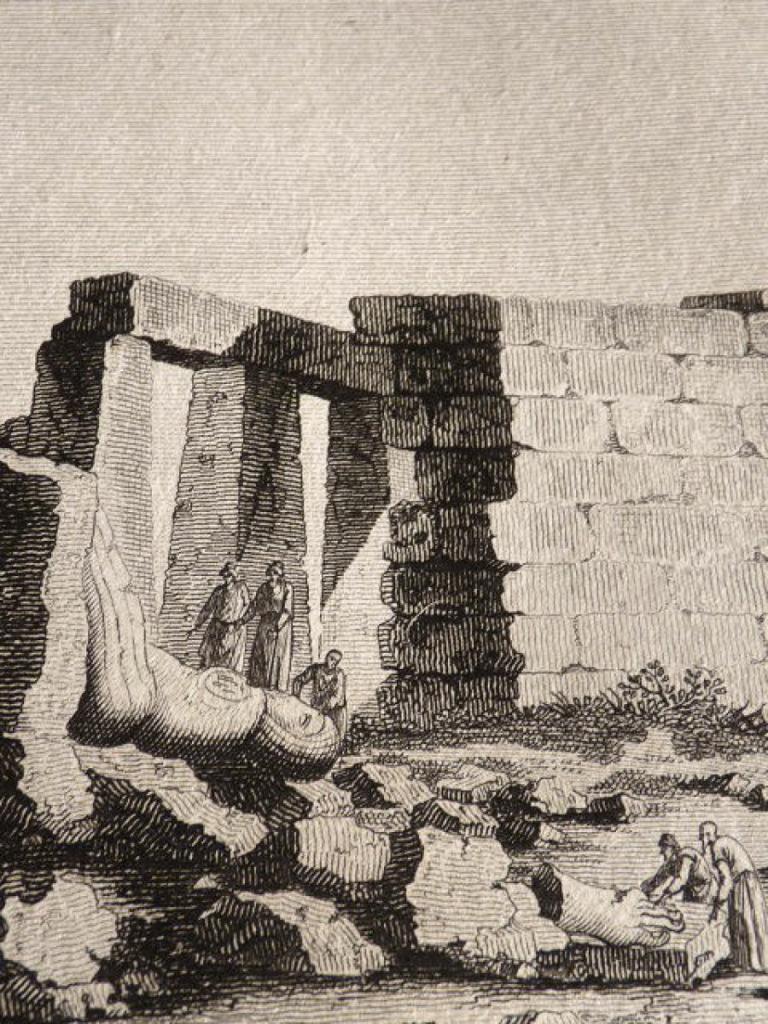Dominique Vivant Denon au Ramesseum en 1799.