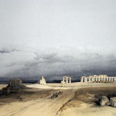 Lithographie de David Roberts (1838).