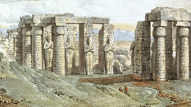 Dessin du Comte L. Philippe Auguste de Forbin (1817-1818).