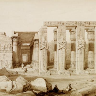 Le Memnonium, d'après George Barnard (1830).