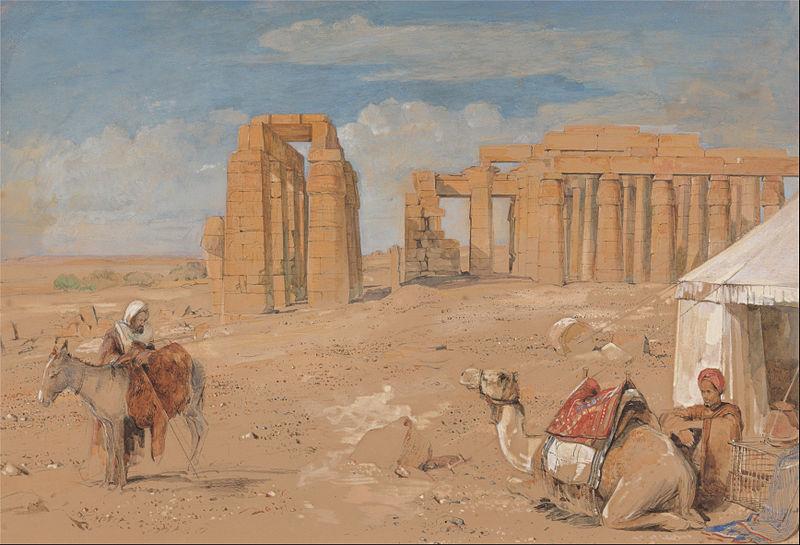 John Frederick Lewis -  Le Ramesseum entre 1841et 1851