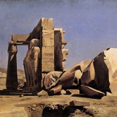 Charles Gleyre, Temple égyptien, 1840 © Musée Cantonal des Beaux-Arts de Lausanne.
