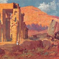 Le Ramesseum, carte postale, 1903.
