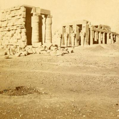 Cliché BK.É IT Paris (vues d'Egypte). Fin XIXe siècle.