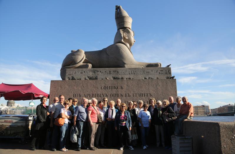 Les membres de l'ASR à Saint-Petersbourg