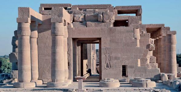 Le Ramesseum, temple de millions d'années de Ramsès II  sur la rive ouest de Louqsor (photo Yann Rantier)