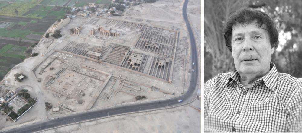 Le Ramesseum et le temple d'Amenhotep II vus de montgolfière