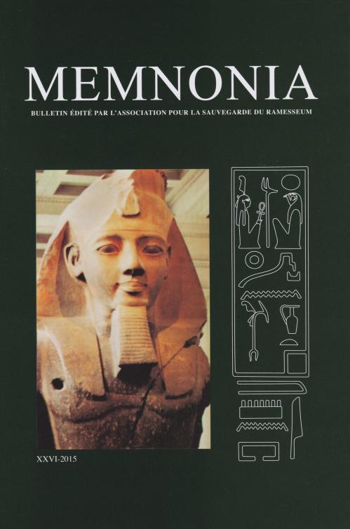 Couverture Memnonia XXVI