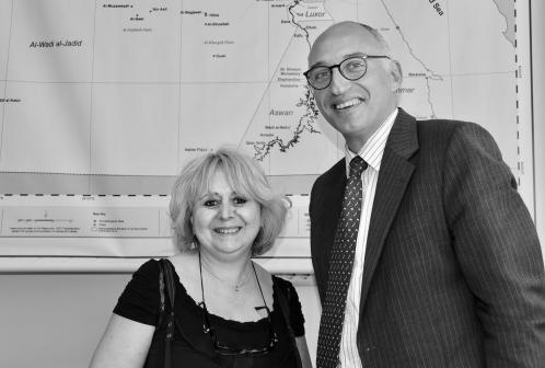 Le Dr Tarek Tawfik et Marie Grillot