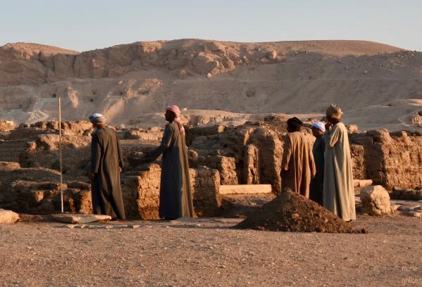 Campagne de fouilles au Ramesseum, temple de millions d'années de Ramsès II sur la rive ouest de Louqsor
