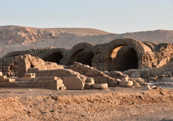 Les magasins du Ramesseum, temple de millions d'années de Ramsès II sur la rive ouest de Louqsor