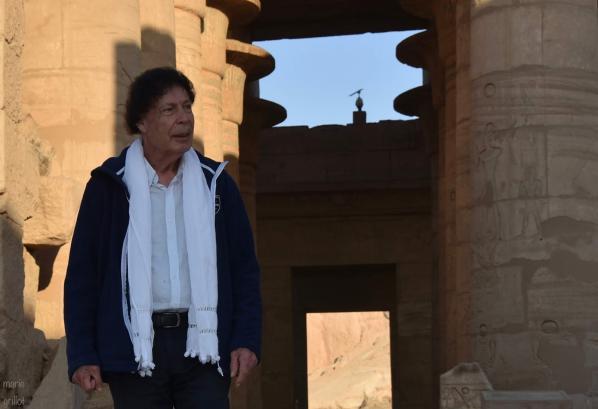 Christian Leblanc au Ramesseum en novembre 2018