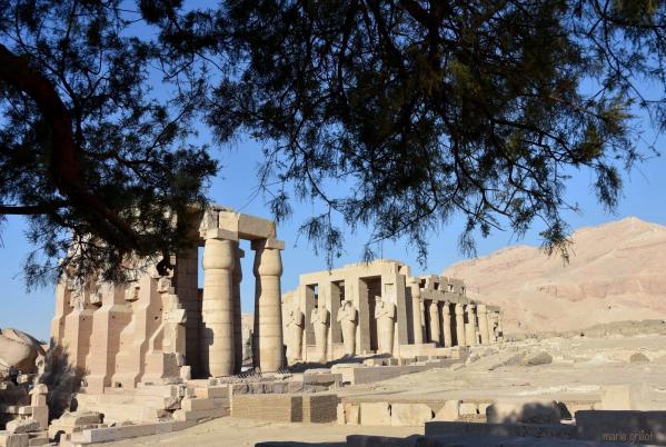 Le Ramesseum, temple de millions d'années de Ramsès II sur la rive ouest de Louqsor