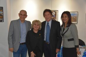 Pascal Pelletier, Marie Grillot, Christian Leblanc et Prof. Ghada Abdelbary (attachée culturelle et scientifique près l'Ambassade d'Egypte en France).