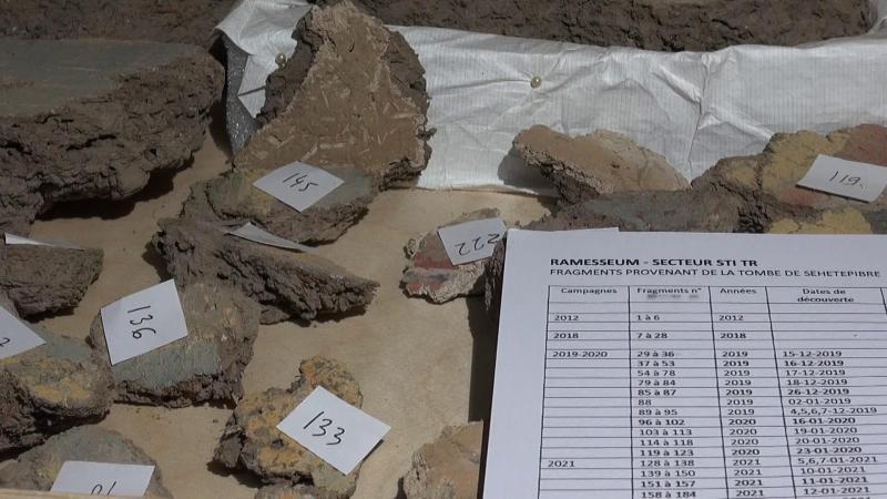 Fragments de la tombe de sehetepibre