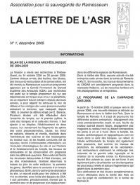 Lettre asr 1 decembre 2005 1
