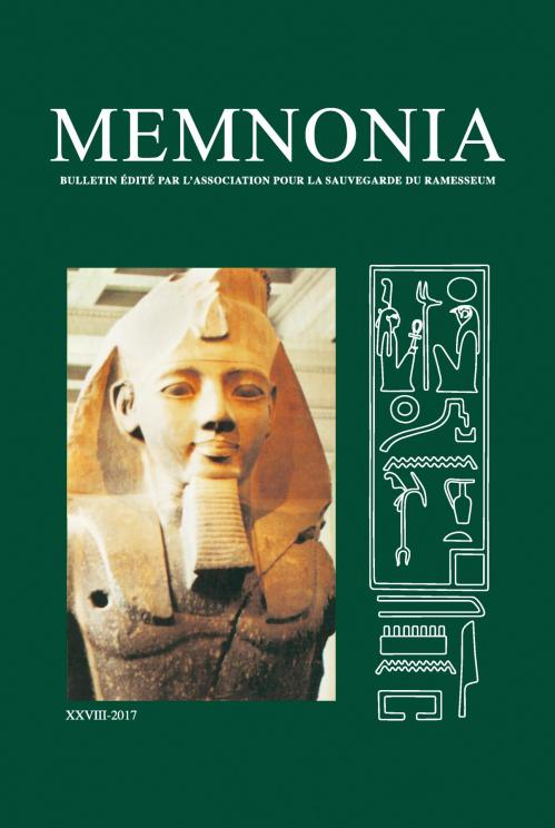 Memnonia volume XXVIII