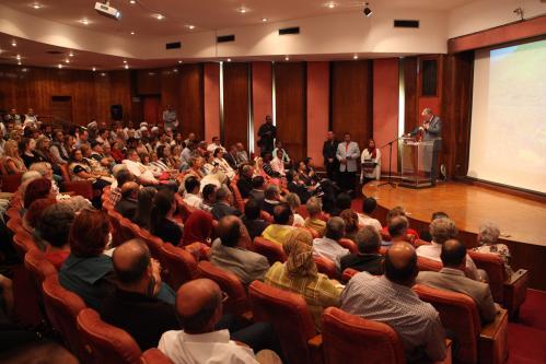 Allocution de Son Exc. M. André Parant devant l'auditoire réuni au musée de la momification à Louqsor.