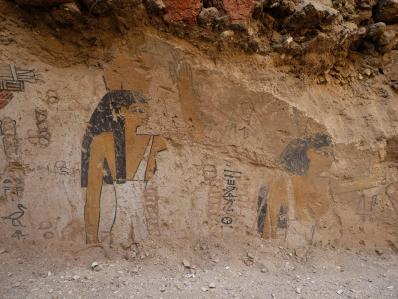 Une peinture sur limon de la tombe de Sehetepibrê