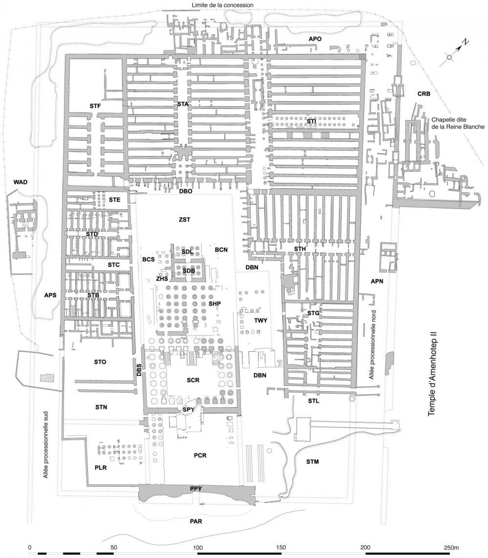 Plan du Ramesseum