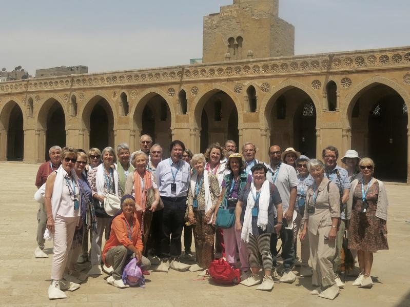 Les membres de l'ASR ayant participé au voyage organisé au Caire du 15 au 21 mai 2017